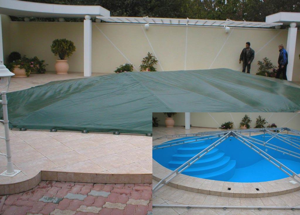 Укрытие для бассейнов своими руками