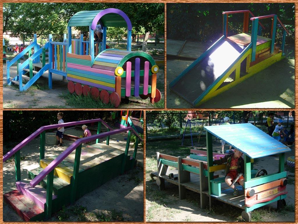 В садиках детские площадки своими руками 16