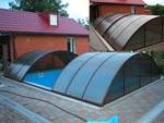 Компания «Тент Дизайн» - Укрытие для бассейна раздвижное