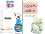 Fresh Couture от Moschino. Queen of Seduction от Antonio Banderas. Парфюмерия и косметика, сеть фирменных магазинов «Светлана»
